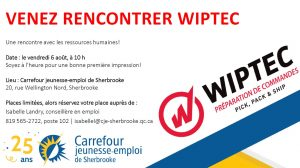 Visuel Wiptec 6aout 300x168 - Café-rencontre avec l'employeur Wiptec